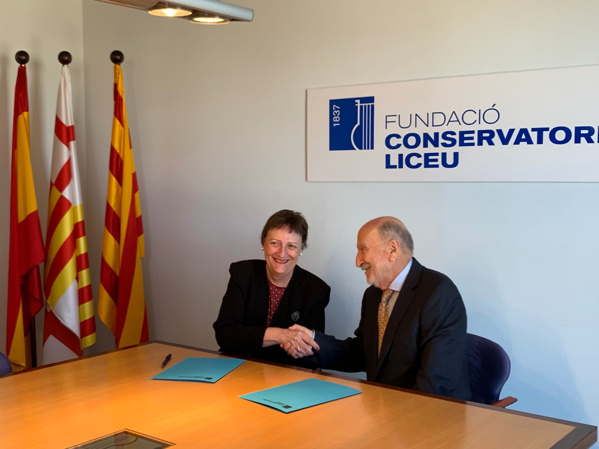 Signature of the Agreement between Fundació ACE and the Liceu Conservatory.