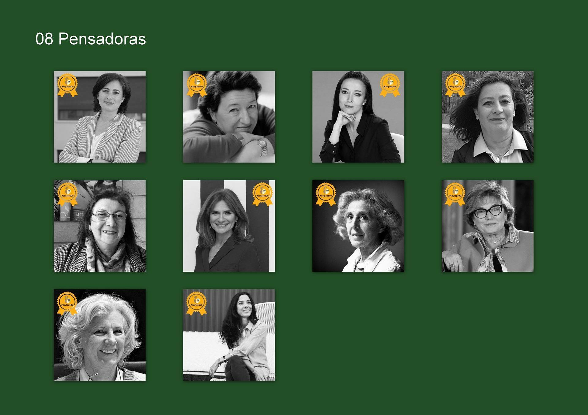 Women awarded in the category of thinkers