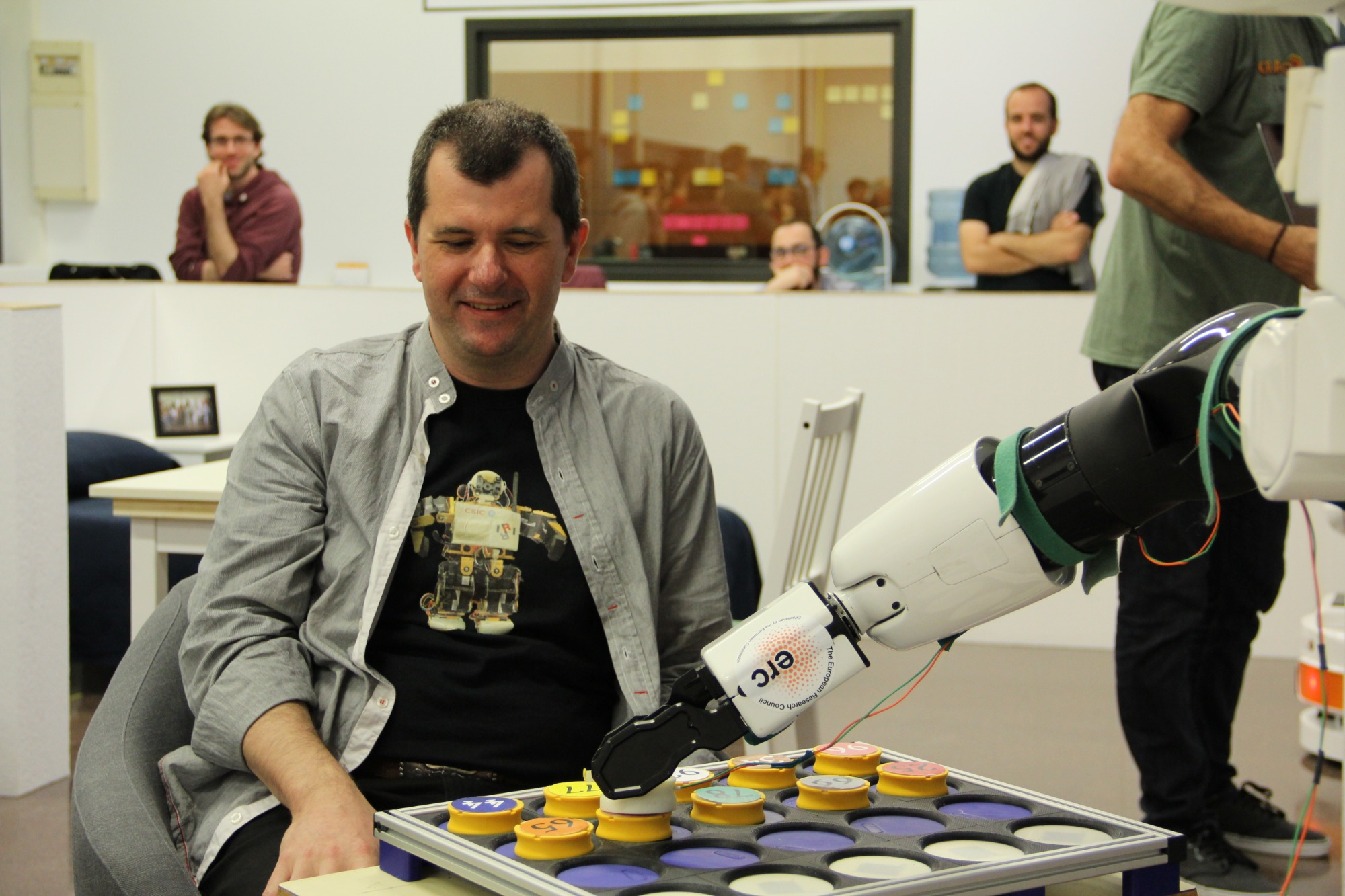 Guillem Alenyà, taking part in the Socrates project on social robotics